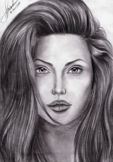 Angelina Jolie by Milad